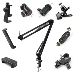 Tablet Stand Bracket Ring Light Ball Head Tripod Accessories Photography LED Selfie Lamp Phone Clip Replacement Parts Accessory