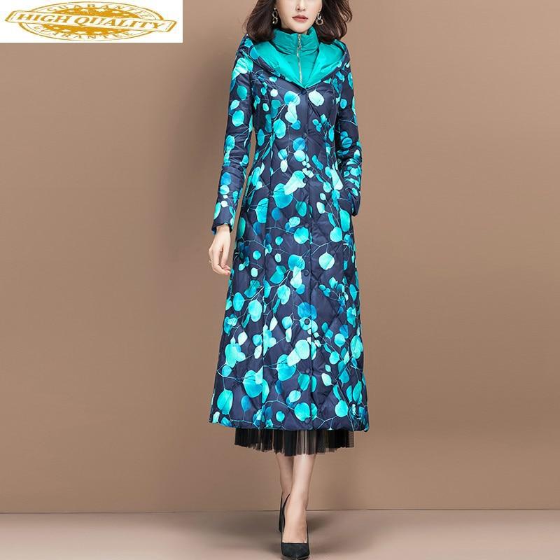 Fashion Women's Down Jacket Winter Long Duck Down Coat Puffer Jacket Korean Overcoat Ropa Mujer N94YY028H89 KJ3889