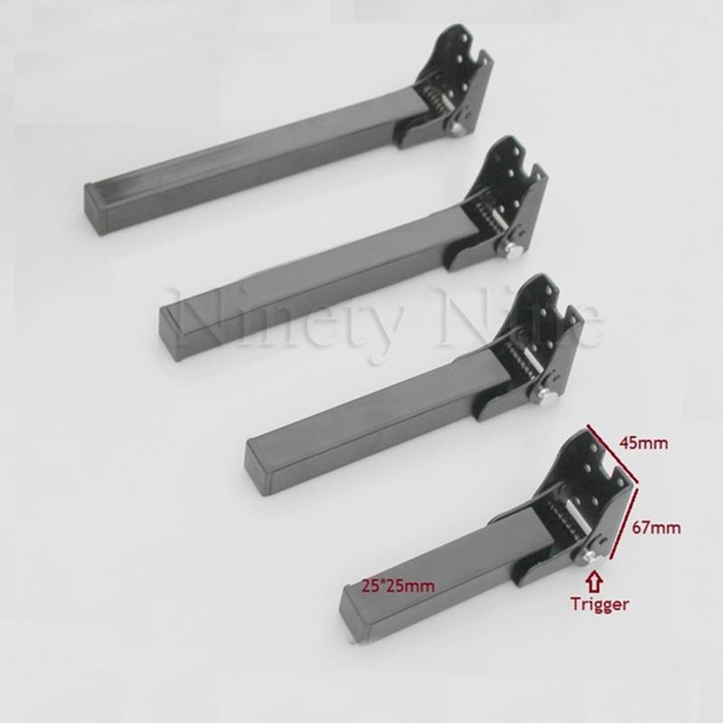 2Pcs Folding Sofa Bed Table Desk Bench Top Bar Leg Feet Black RV Conceal Hidden Folding Feet