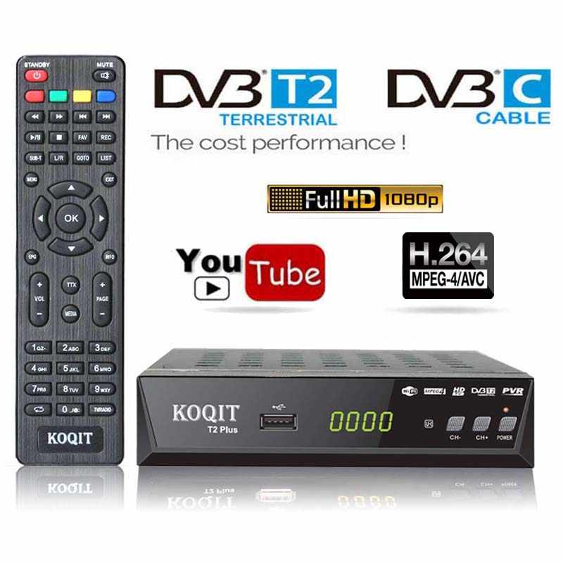 H264 Freies Tuner Dvb T2 dvb c Digitale Dvb-t2 TV Box Youtube Russland IPTV HD 1080P DVBT2 DVB-C konsole TV Empfänger FTA Set Top Box