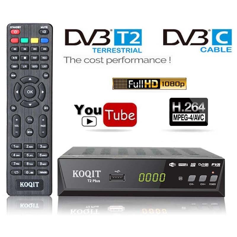 H.264 Free Digital TV Box HD 1080P DVBT2 DVB-C Cable Receiver Dvb-t2 Tuner Dvb T2 FTA Receiver TV Tuner Youtube IPTV Set Top Box