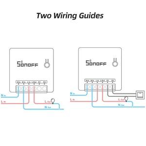 Image 5 - Умный выключатель ITEAD SONOFF MINI DIY, двусторонний Wi Fi/LAN/APP/голосовое дистанционное управление, работает с внешним выключателем, светильник Google Home Alexa