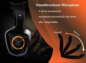 Image 4 - SOMiC G910 USB 7.1 Surround Sound Gaming Headset with Mic LED light Smart Vibration Over ear PC Headphone for PS4