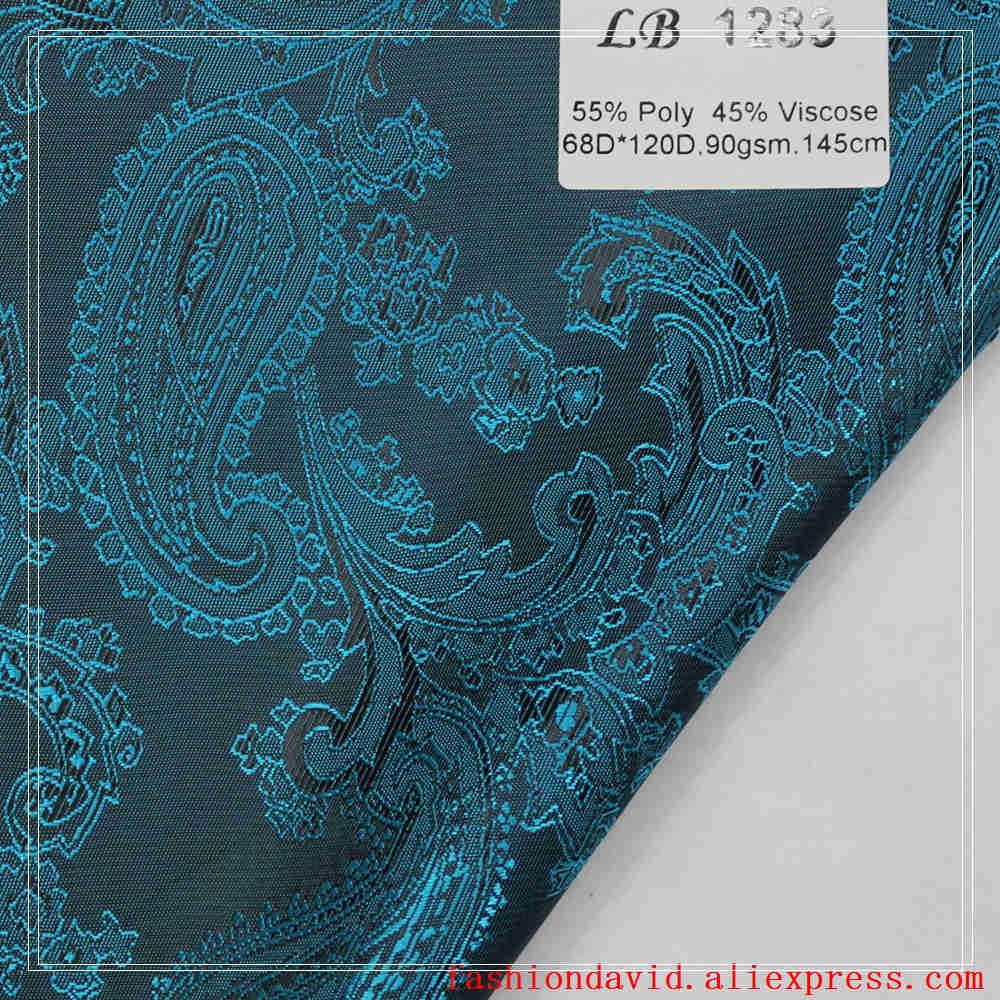 Taffeta Clothing Fabric Lining 100cm*150cm 55% Polyester 45 % Viscose Jacquared Polka Dot Flower Riboux For Dress Suit Coat Box