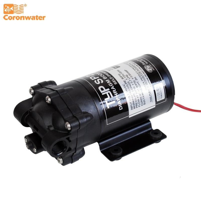 Coronwater 50 gpd auto priming ro bomba de reforço de água no sistema de osmose reversa para o bem, tanque de armazenamento sp2500
