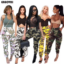 Cargo-Trousers Long-Pants Combat-Bottoms Military Army Women Pockets Mid-Waistband High-Quality