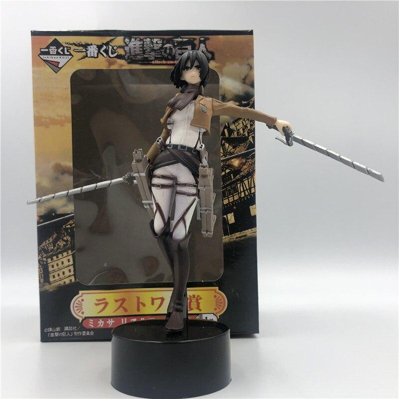 Peradix Trendy High Quality Anime Shingeki No Kyojin Attack On Titan Mikasa Ackerman PVC Figure Figurine Gift Toys