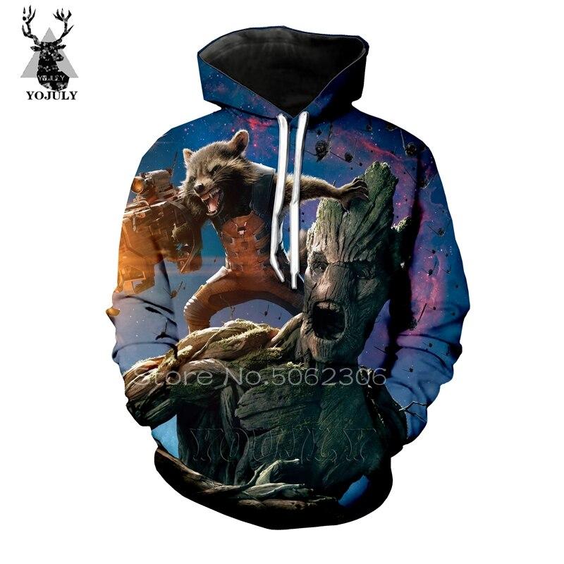 Rocket Raccoon hoodies silk lil peep men's hoodie fall/winter sweatshirt hip hop 3D Harajuku sik fashion streetwear hoody A29