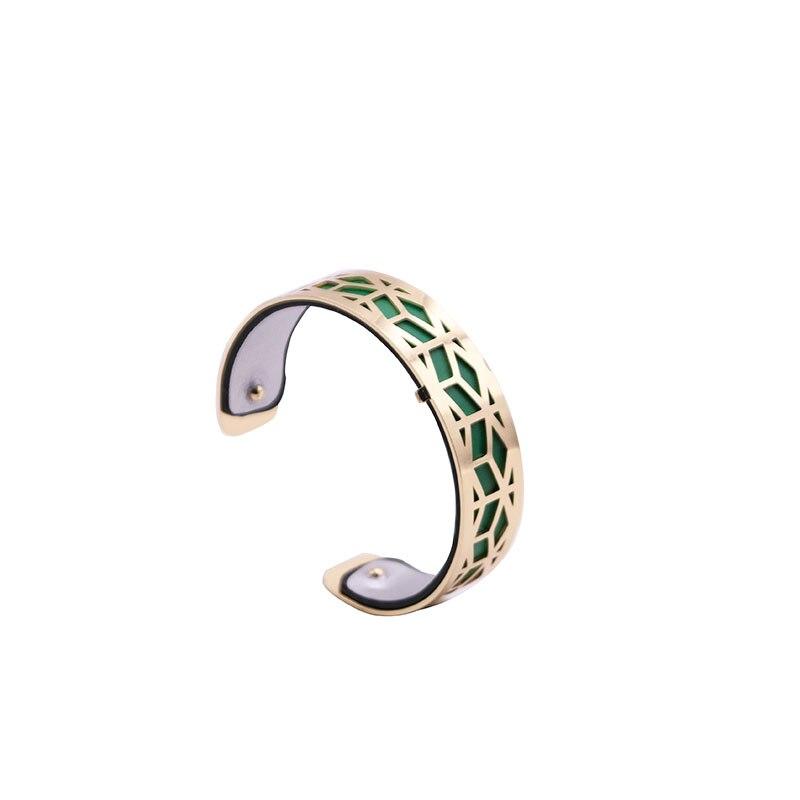 15MM Reversible Bracelet with Gold Color Hollow Out Shaped Reversible Interchangeable Bracelet Femme Bijoux 2020