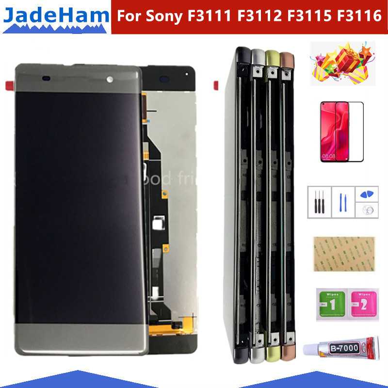 Original 5.0''  LCD For Sony Xperia XA F3111 F3113 F3115 LCD Display With Touch Screen Display Digitizer Assembly LCD With Frame