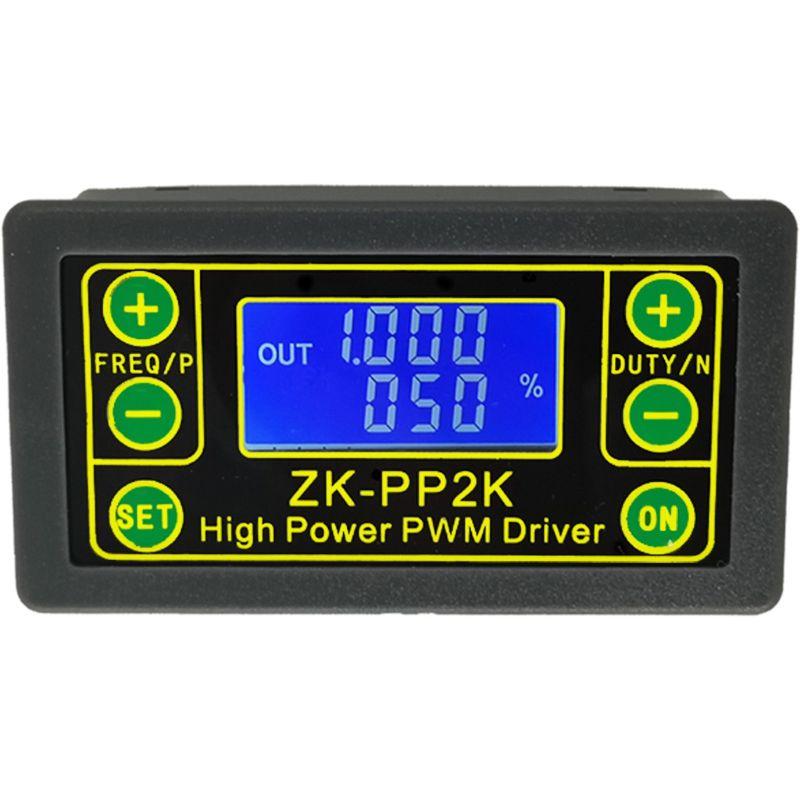 ZK-PP2K ШИМ контроллер скорости двигателя постоянного тока Частота Рабочий цикл Регулируемый переключатель светодиодный диммер цифровой импульсный драйвер 2 режима