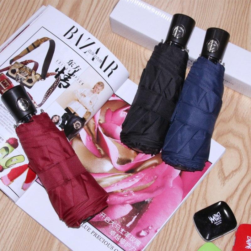 JESSE KAMM full automatic umbrella for boys, black vinyl folding mini German mini 50 percent pocket umbrella for girls