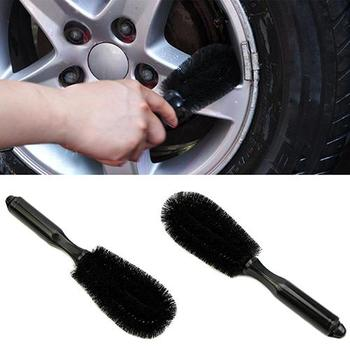 Car Vehicle Motorcycle Wheel Hub Tire Rim Scrub Brush Washing Cleaning Tool Cleaner image