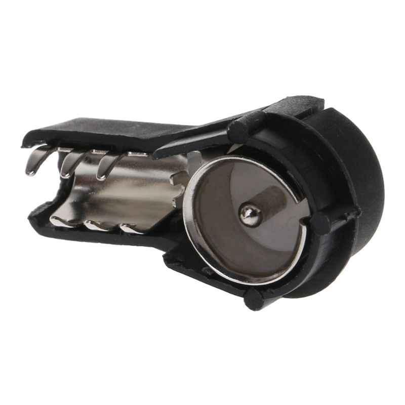 2 uds Radio de coche estéreo ISO macho conector de antena engarzado estilo coche convierte cables desnudos antena adaptador