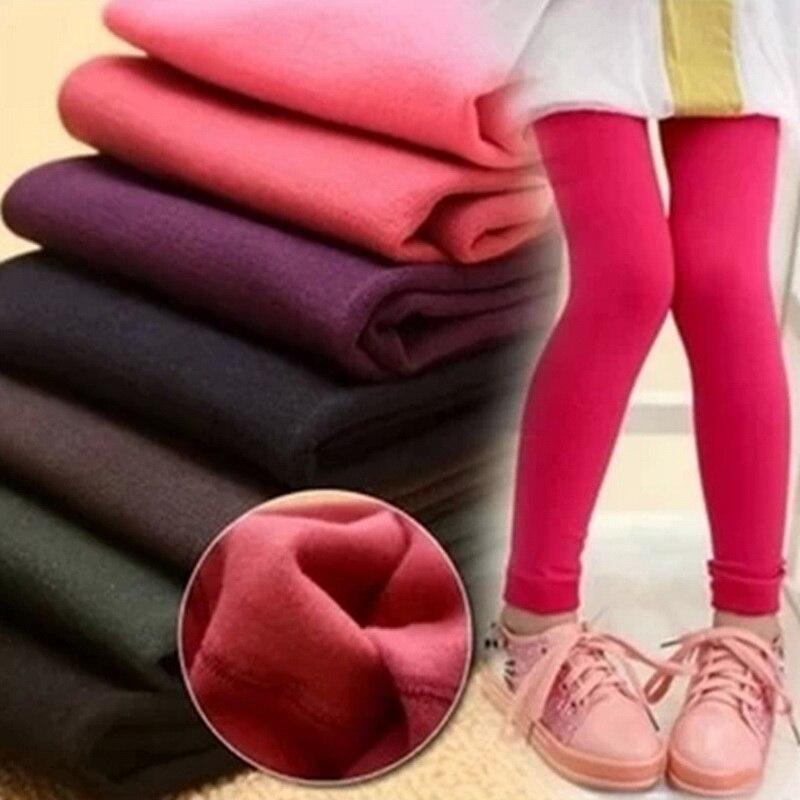 Grils Leggings Autumn Winter Children Ruffle Pants Kids Thicken Warm Elastic Waist Cotton Leggings Girl Pants Trousers Pantalone