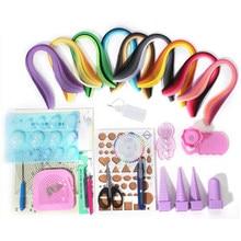 Juego de 18 tipos de herramientas y 900 tiras de papel (5mm) para niños, regalo de cumpleaños y decoración del hogar Diy