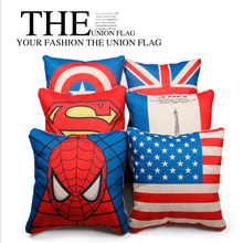 Marvel automotive pillow linen British style waist cushion household office interior accessories