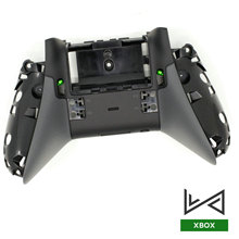 Apertos de borracha Alças Back Tampa Da Caixa Traseira Shell Caso Para Xbox Um Controlador de Elite Botões LB RB Bumper