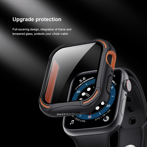 Image 3 - for Apple Watch Case 44mm 4/5/6/SE iWatch Cover Safety Glass Screen Protector + Shockproof Bumper For Apple Watch 40mm 4/5/6/S