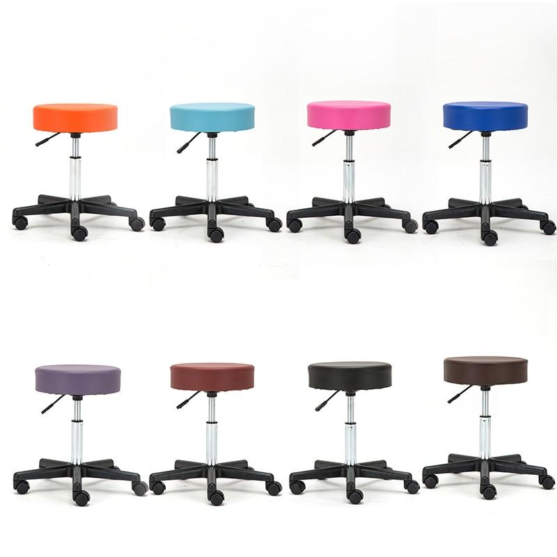 chair Barber Wheel stool stool rolling barber chair Adjustable Barber Chairs Hydraulic Rolling Swivel Stool Chair Salon Spa Bar