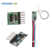 FUNSHION 433Mhz Superheterodyne RF Transmitter and Receiver Module Remote controls switch For Arduino Wireless module Diy Kits 433mhz rf wireless receiver module switch superheterodyne 433mhz wireless for arduino diy relay receiver