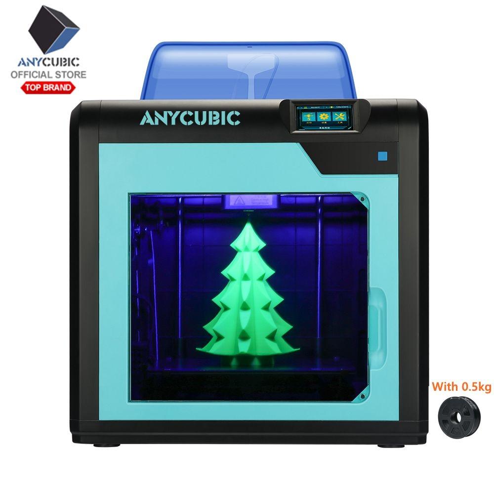 ANYCUBIC 3D 4Max Pro Design Modular de Alta Precisão Impressora Plus Size Impresora Impressora 3d Kit Diy Com Auto Poder de Desktop off