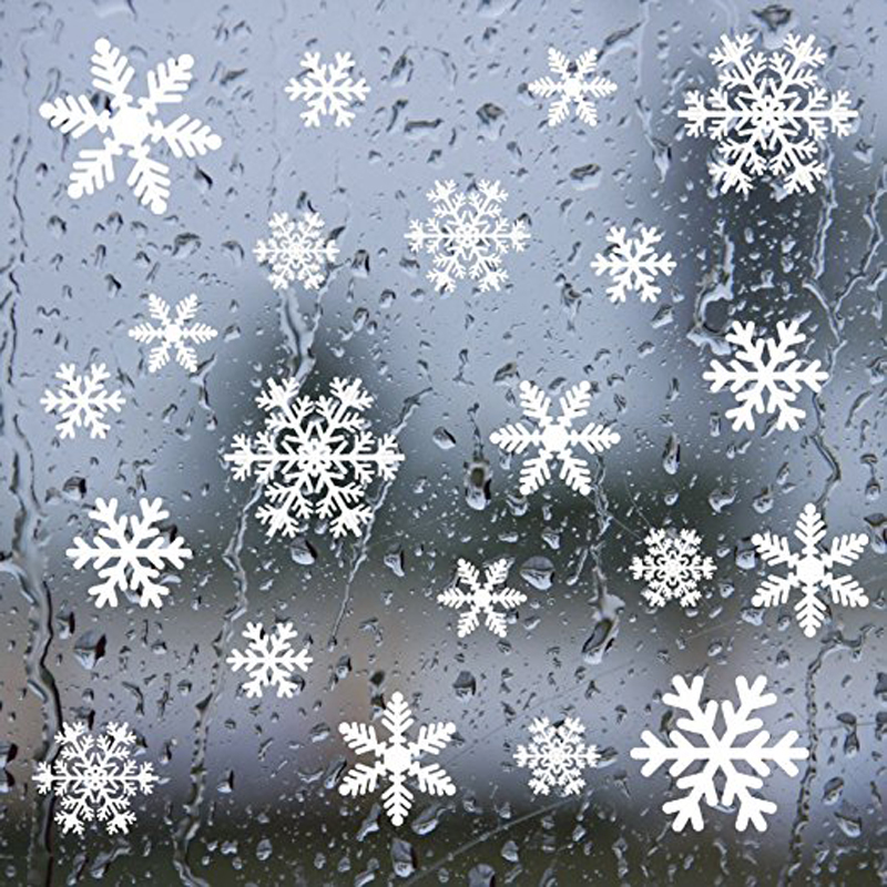 27Pcs Christmas Snowflake Window Sticker Christmas Wall Stickers Kids Room Wall Decals Christmas Decorations for Home New Year