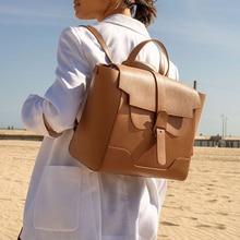Women Backpack Large-Bag Classic Designer-Style Maestra Luxury Brand Vintage Casual Fashion