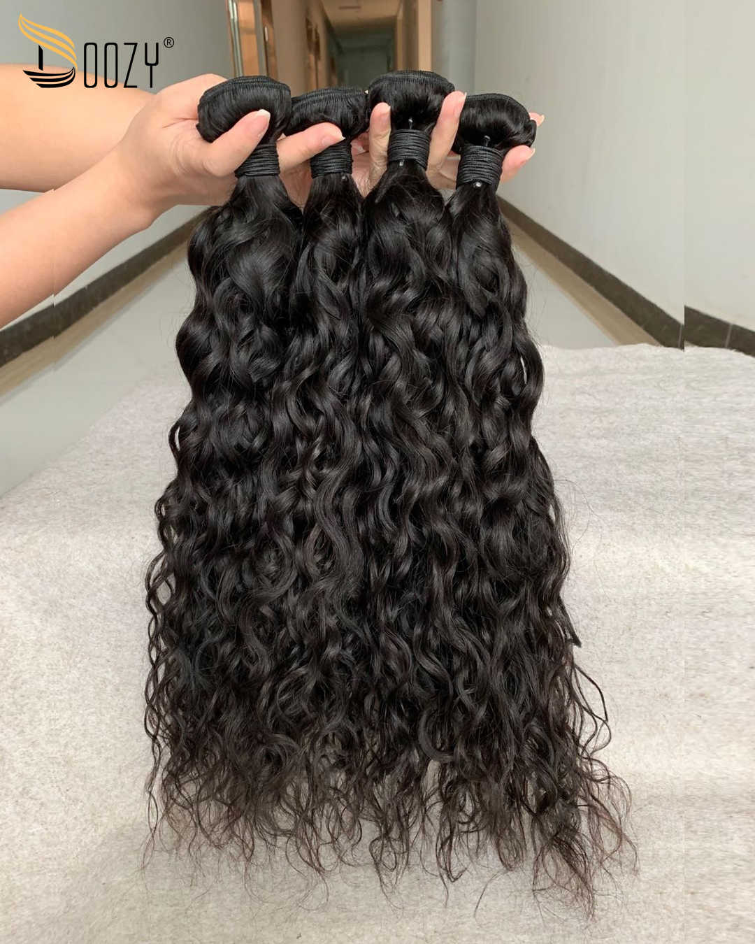 Doozy Ombre 1b/cabello humano Rosa 3 Paquetes de extensiones de cabello de oro rosa Remy pelo humano brasileño recto