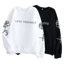 Kpop Harajuku стильная одежда Love yourself/поддельная Любовь K-поп-майка, хипстер, подарок подруге в instagram, k pop shirt Jimin