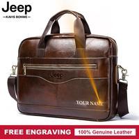 Famous Brand 2019 Men Business Briefcase Bag Leather Computer Laptop Handbag Casual Man Bag Travel Shoulder bags