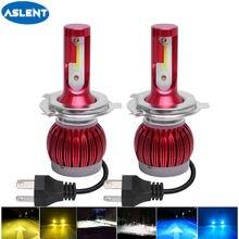 Aslent h7 h4 светодиодный фар автомобиля h1 h3 h8 h11 9005 hb4