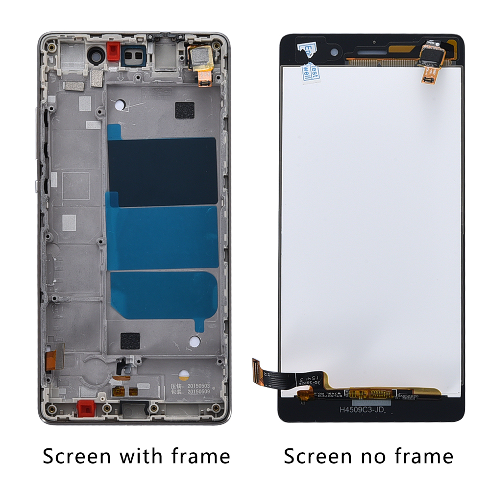 "Huawei P8 Lite LCD Display Touch Screen Digitizer Assembly With Frame Replacement ALE L04 ALE L21 Huawei P8 Lite LCD Display Touch Screen Digitizer Assembly With Frame Replacement ALE-L04 ALE-L21 For 5.0"" Huawei P8 Lite LCD"