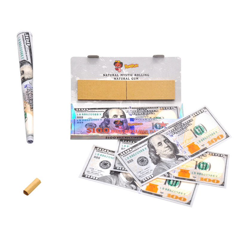 DIY 1booklets 110mm Dollar Smoking rolling Filter Tobacco Cigarette Filters holder weed paper for hand Rolled smoke accessories 1