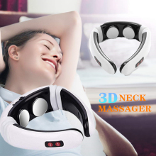 DROP SHIPPING Electric Pulse Back and Neck Massager Far Infrared Heating Pain Relief Tool Health Care Relaxation Tool
