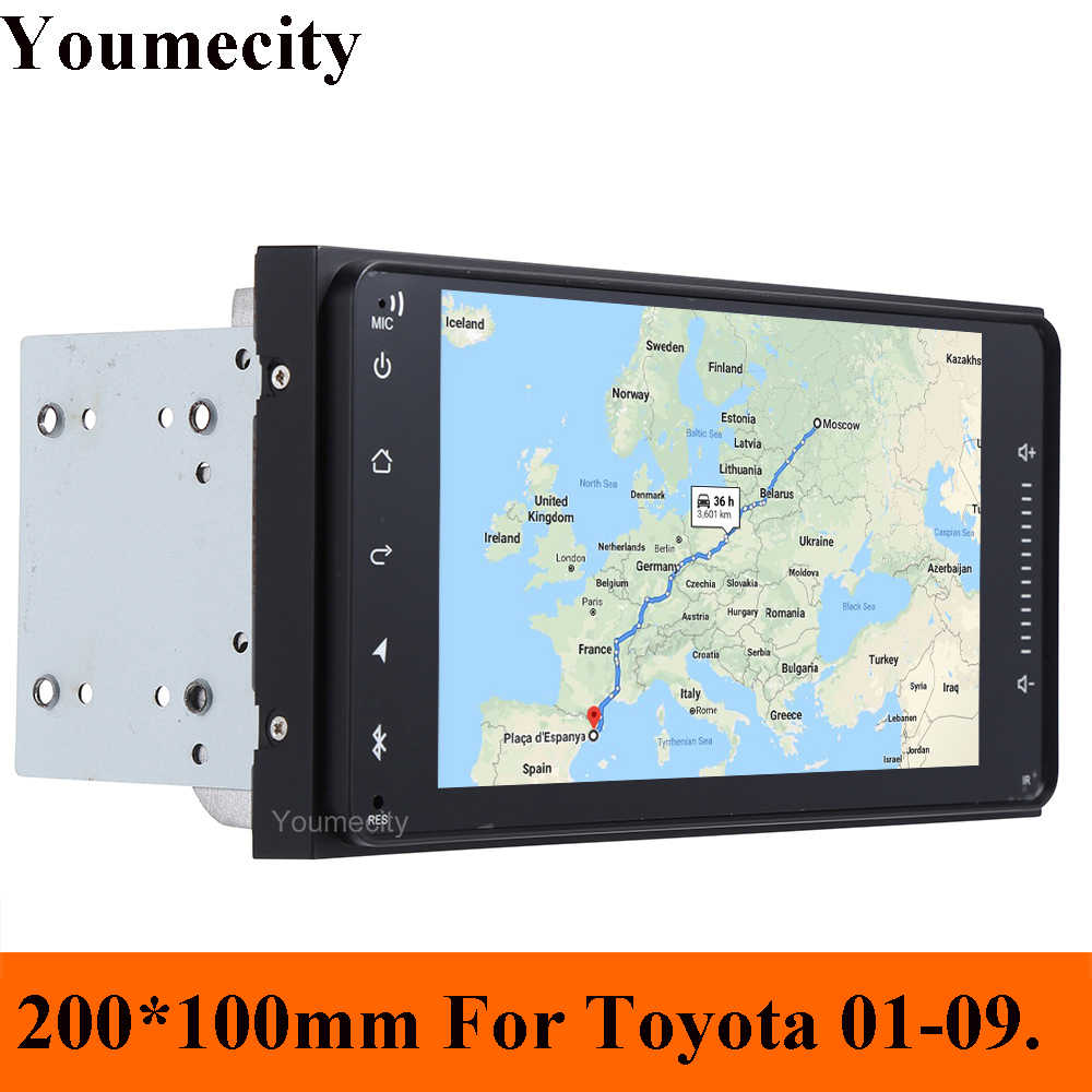 Youmecity Radio samochodowe odtwarzacz dvd stereo dla Toyota Avalon AVanza Celica Granvia Hiace Kluger Paseo Previa Prius Sienna Solara życzenie
