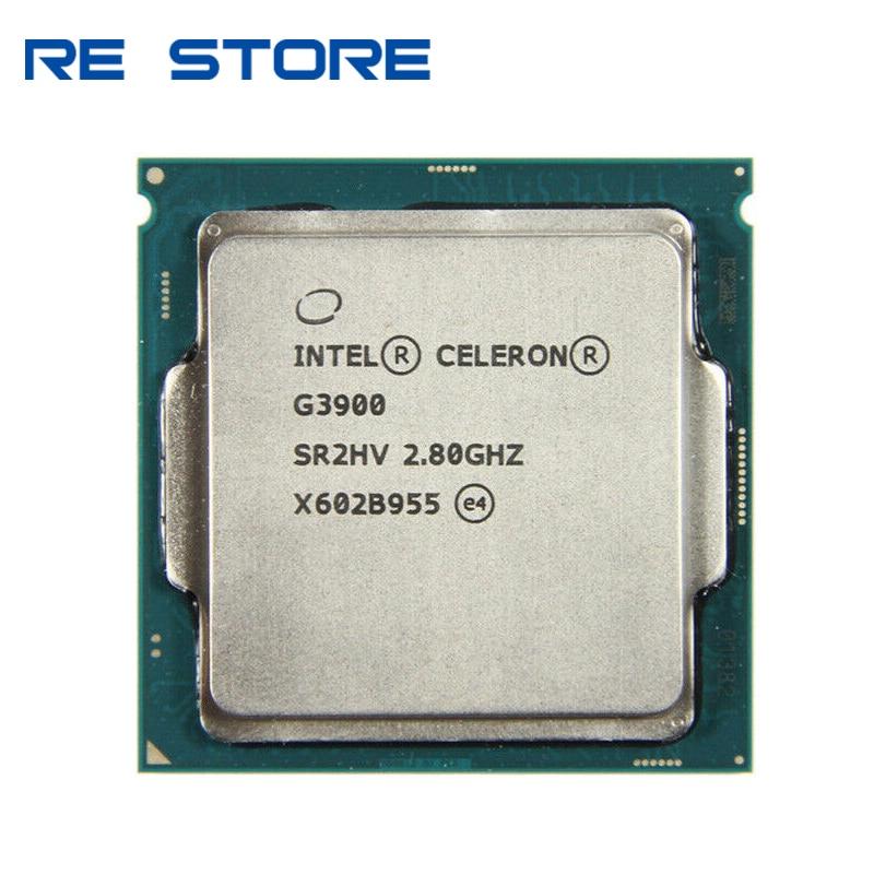 Процессор Intel Celeron G3900, 2 Мб кэш-памяти, 2,80 ГГц, LGA 1151, двухъядерный