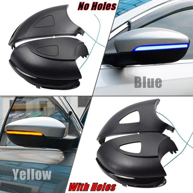 Für Volkswagen VW GOLF 6 VI MK6 GTI R linie R20 Touran LED Dynamische Blau Blinker Blinker Seite Hinten ansicht Spiegel Anzeige Licht