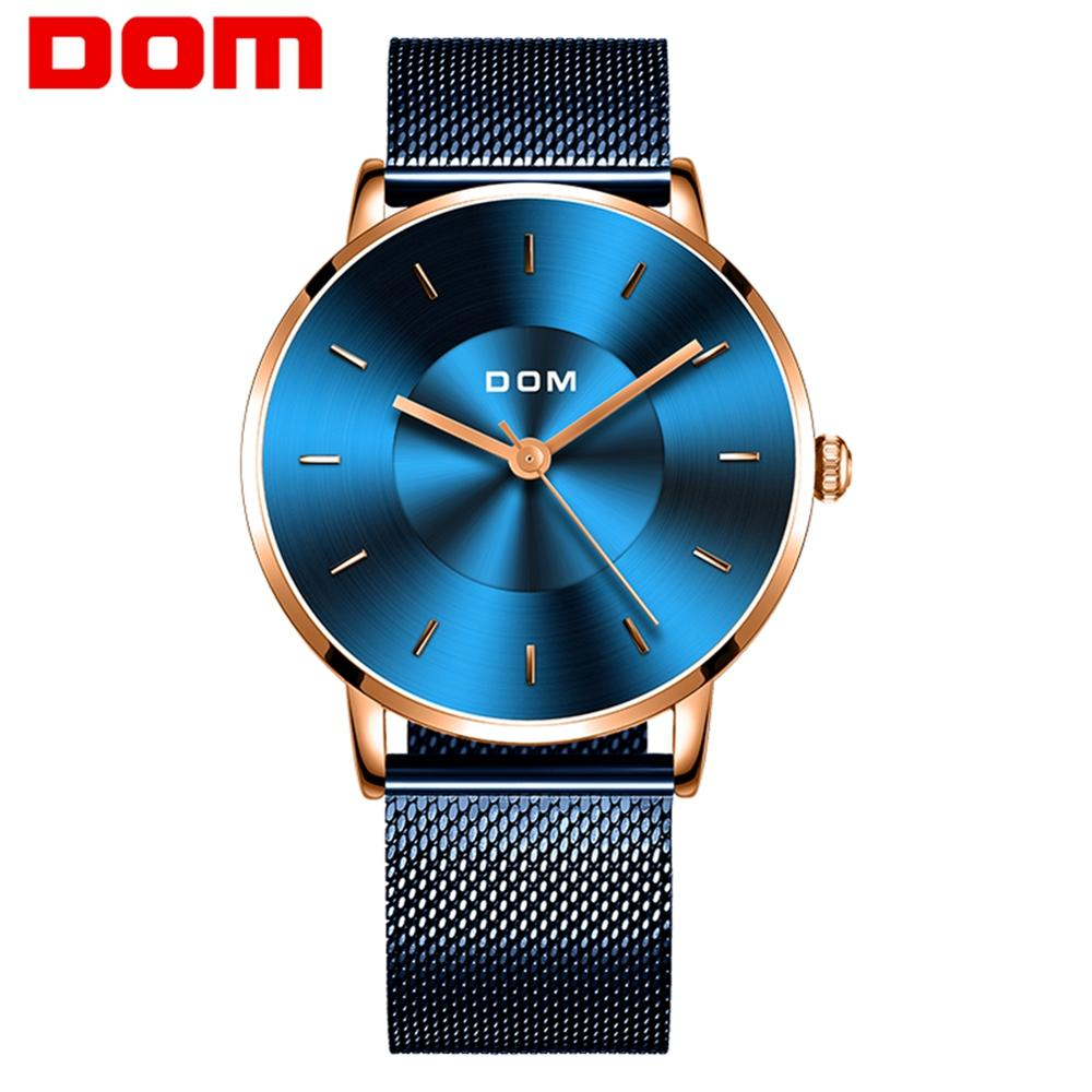 Watch men DOM Top Brand Luxury Quartz watch Casual quartz-watch steel Mesh strap clock male Relog M-1289GK-2M