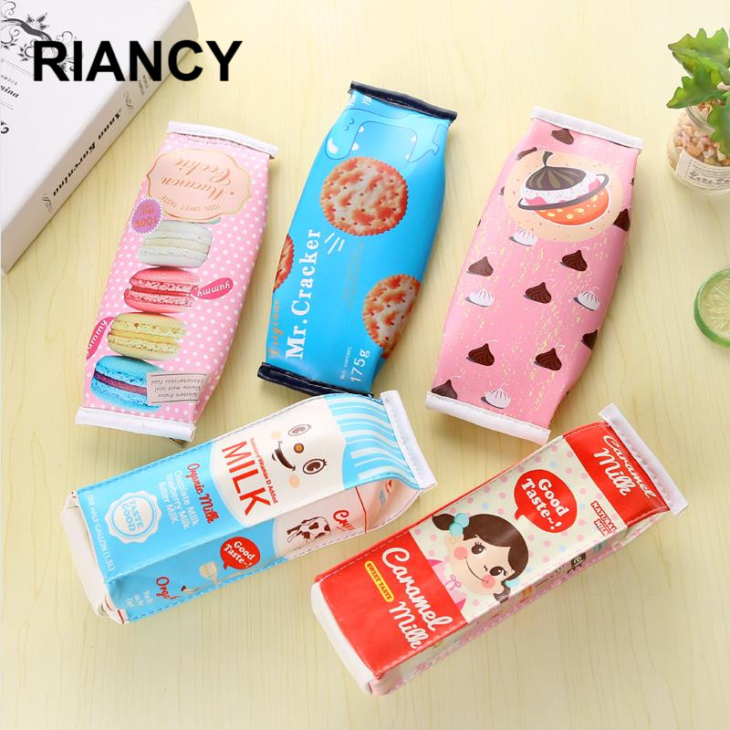 Creative Simulation Milk Pencil Bag Fountain Pen Case School Supplies Pencil Case Plumier Scolaire Pencil Pouch Cute 04894
