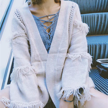 KIYUMI Sweater Women Cardigan Thick Hot Long Sleeves Tassel Tops 2019 Loose Autumn Winter Cardigans New