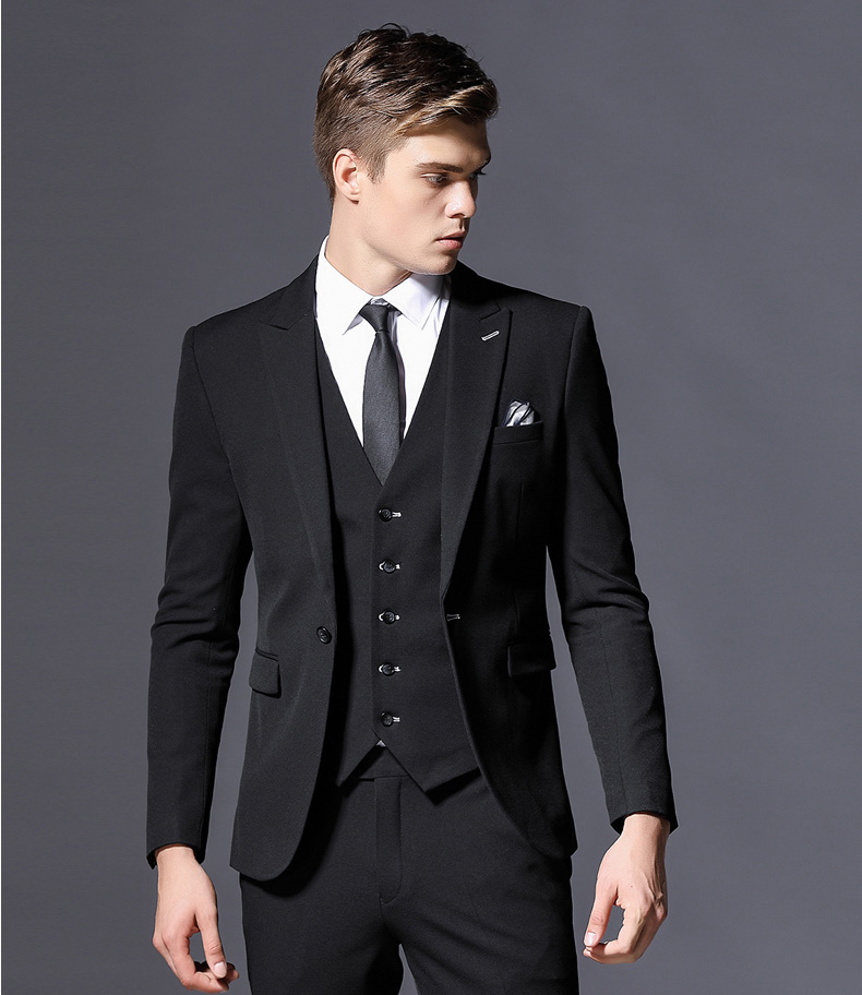 Custom Made Men Suit Blazers Retro Business Suits Slim Fit Suits For Men 3 Pieces Single Breasted Evening Prom Party Suits