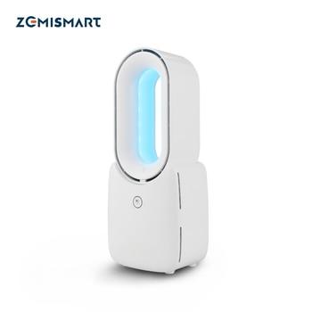 Ventilateur intelligent sans lame Tuya avec veilleuse colorée Alexa Google ventilateur sans feuilles à faible bruit