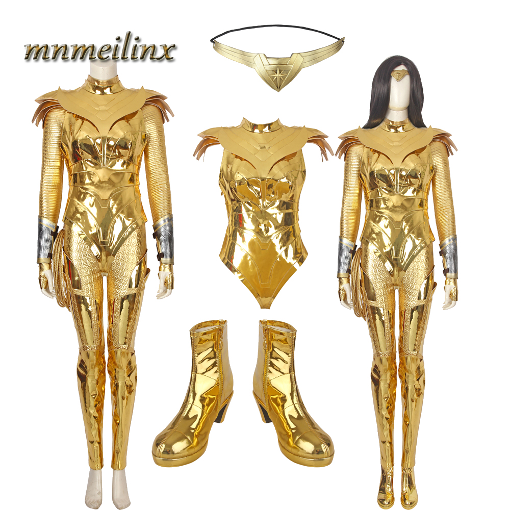 Wonder Woman Diana Prince Cosplay Costume Halloween Party Women Outfit Full Set