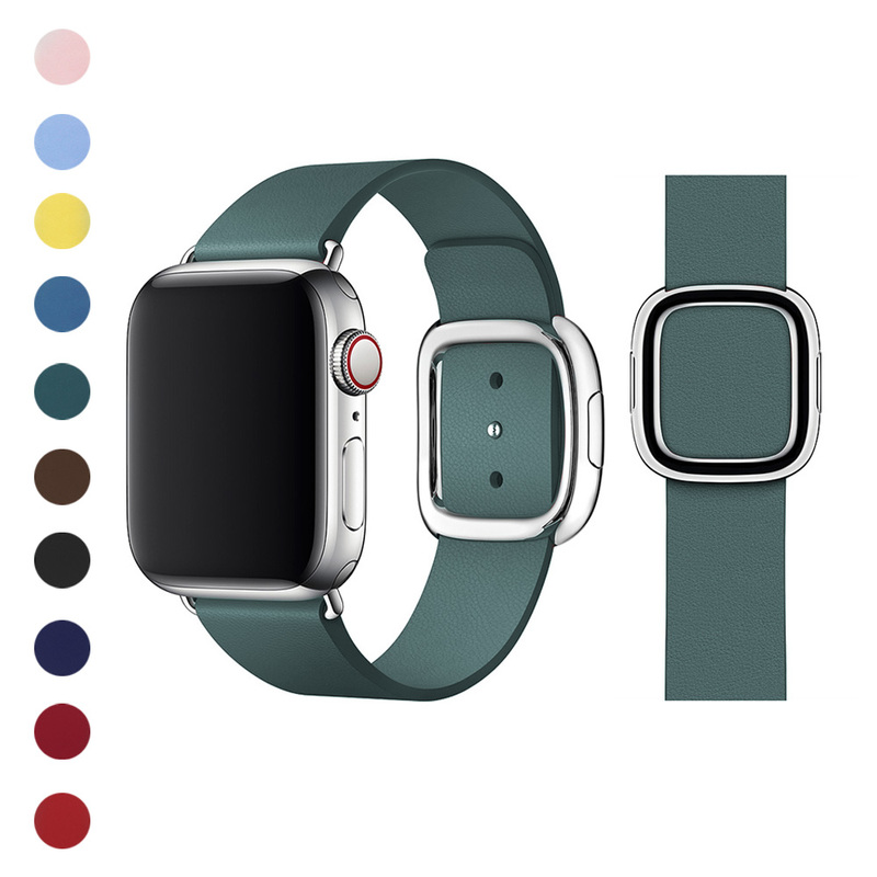 SEURE Genuine Leather Watch Band 38/40mm 42/44mm Magnetic Buckle Suitable For Apple  IWatch Strap Series 5 4 3 2 Bracelet Cow