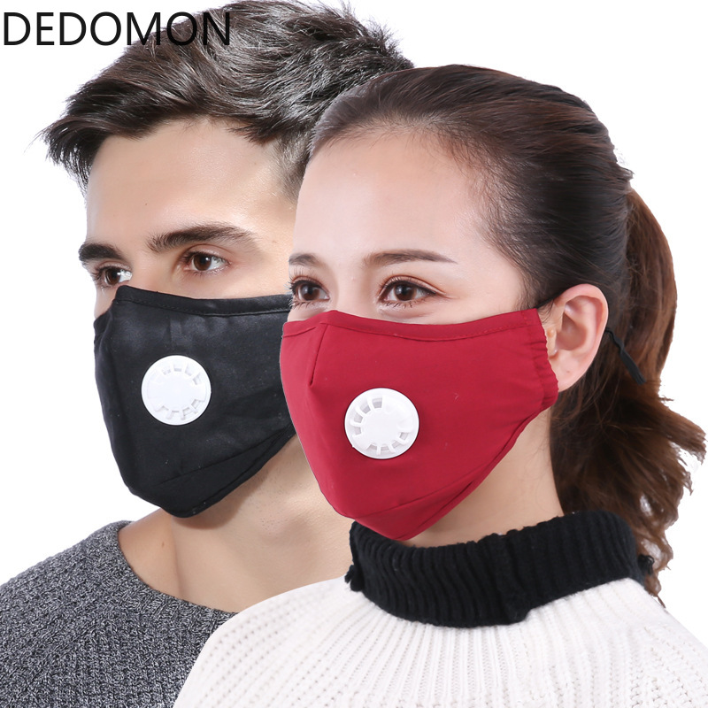 Anti Pollution Mouth Face Mask Dust Respirator Washable Reusable Masks Cotton Unisex Mouth Muffle For Allergy/Asthma/Cycling