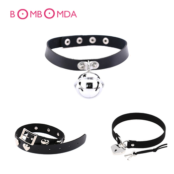 BDSM Sex Toys Leather Collar For Woman Sexy Lingerie Neck Ring Punk Bdsm Bondage Rope Fetish Slave Tame Games Exotic Accessories image
