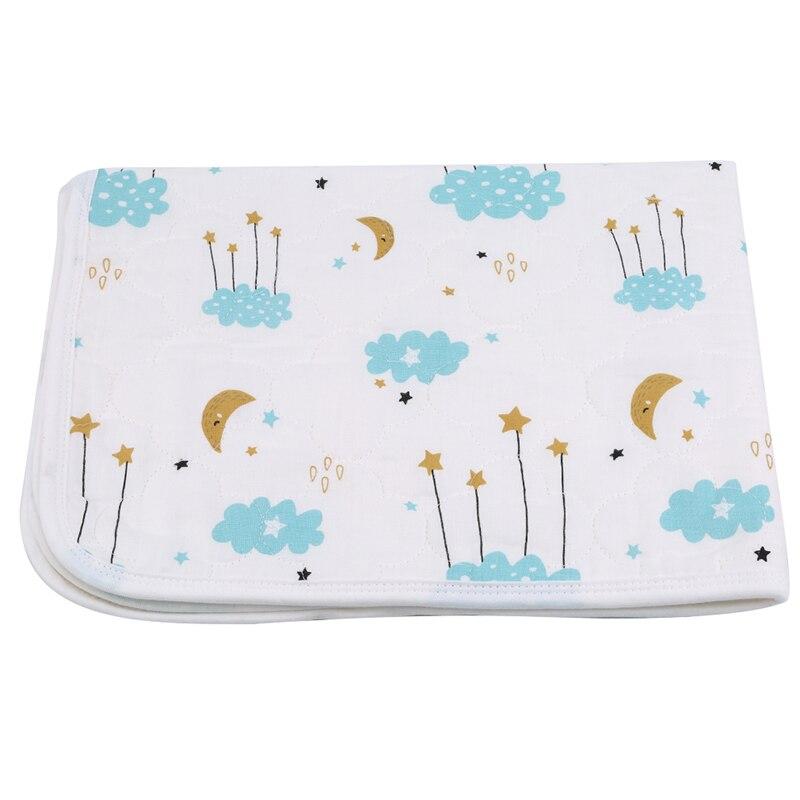 Baby Waterproof Sheet Urine Changing Pads Urine Pad Burp Mattress Changing Mat Cartoon Reusable Infant Bedding Nappy