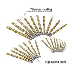 Image 4 - WORKPRO 29 Piece Titanium Drill Bit Set in Metal Case