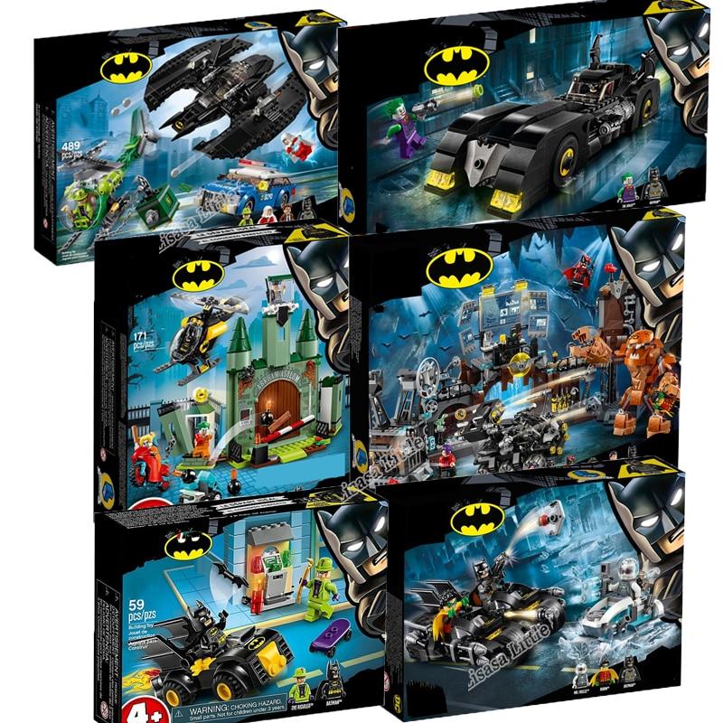 NEW Legoinglys Marvel Batman Super Hero Joker Lowrider Penguin Classic Robbin Car Legoinglys Technic Building Blocks Toys